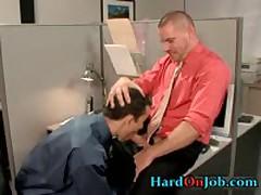 Hot Gay Guy Gets Assholle Rimmed On Desk 1 By HardOnJob