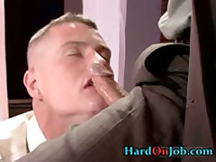 Hot Gay Guy Gets Assholle Rimmed On Desk 5 By HardOnJob