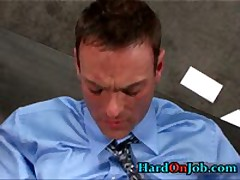 Hunky Gay Dude Gets Jizzster Sucked At Work 4 By HardOnJob