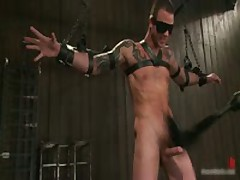 Tattooed Hunk Blindfolded And Gets Rimmed 3 By BoundPride