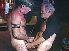 Old Daddies Line Up For A Hard Fucking