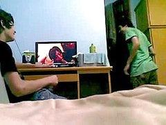 Horny 19yo Students Wanking