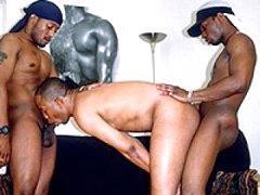 Three Horny Black Studs Very Hot Gay Hardcore Action