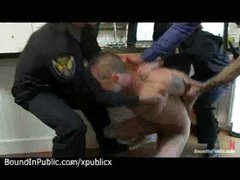 Police Shove Dick In Mouth Of Gay
