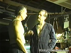Aged Workers At A Factory